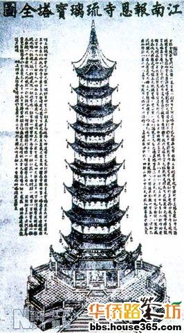大报恩寺琉璃宝塔作为中国最具特色的标志性建筑物