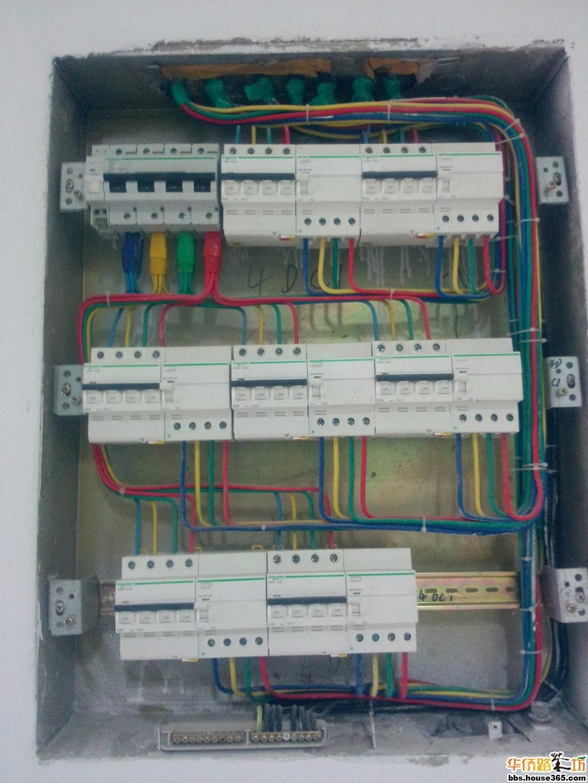 给大家分享一张强电箱标准接线图