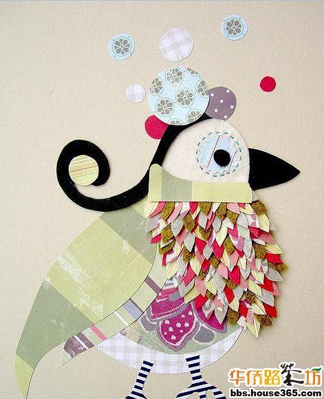 幼儿园冬天圣诞树布贴画
