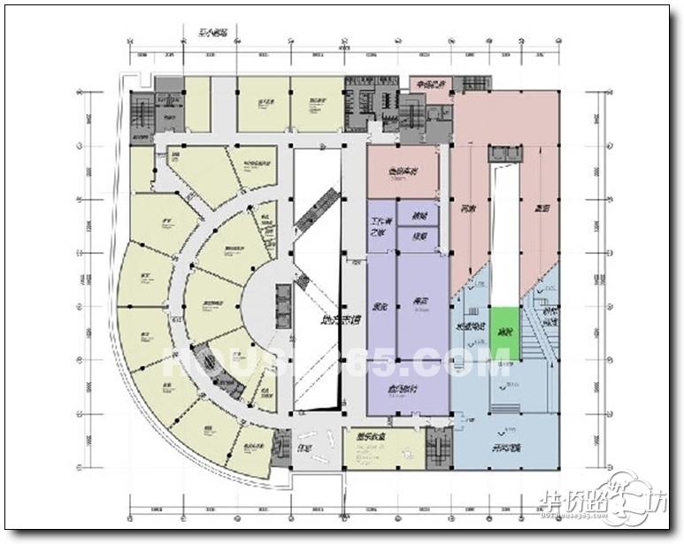 白云亭文化艺术中心整体平面设计图