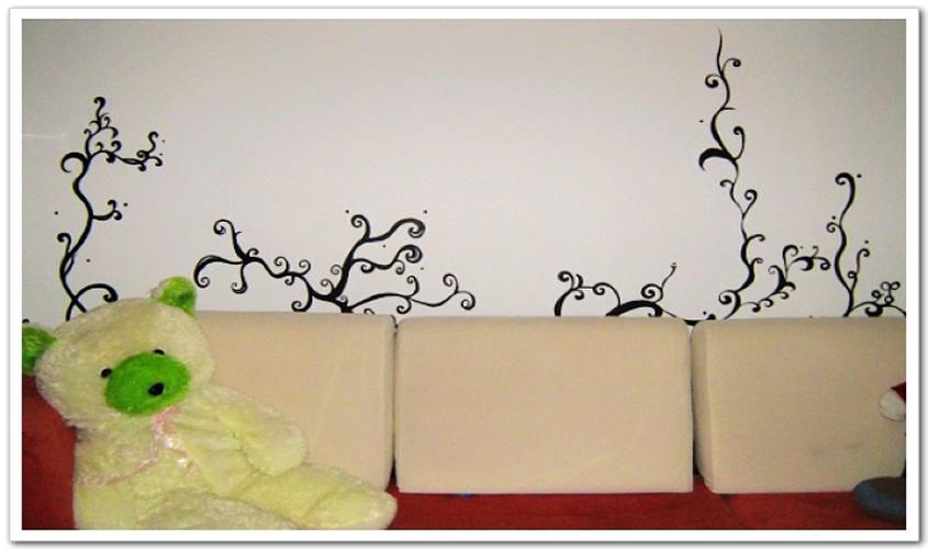 小清新树木手绘墙