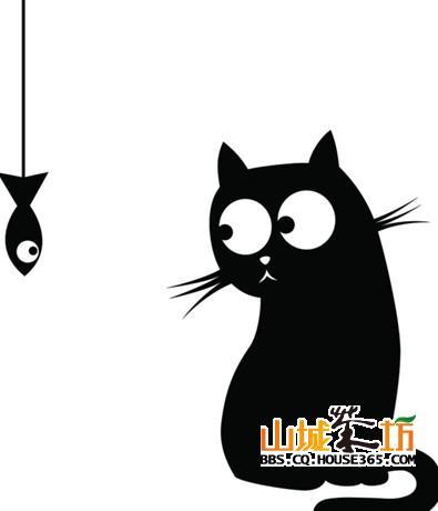 《可爱小猫简笔画》,可爱卡通小猫简笔画