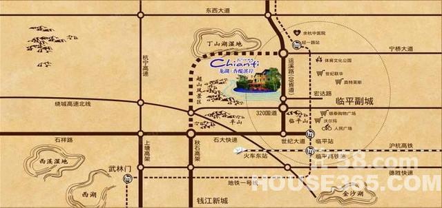 杭州超山风景区地图