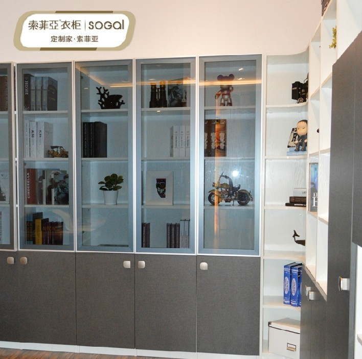 订制欧式家居转角书柜图片