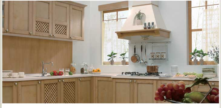 实木厨房图片