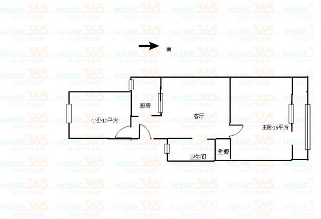 两室一厅房屋设计图大全展示