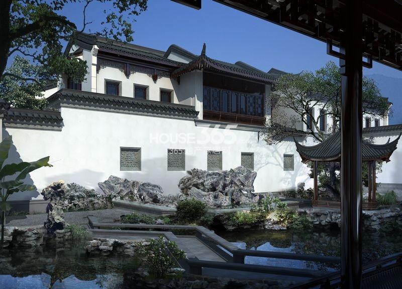 中式风格的小区小品雕塑
