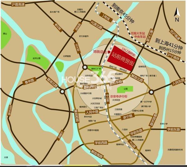 西坊城镇地图