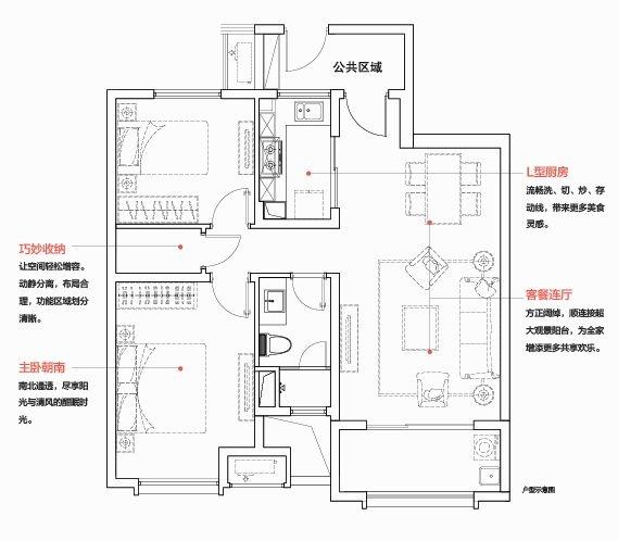 万科金域缇香88平方米户型(售空)