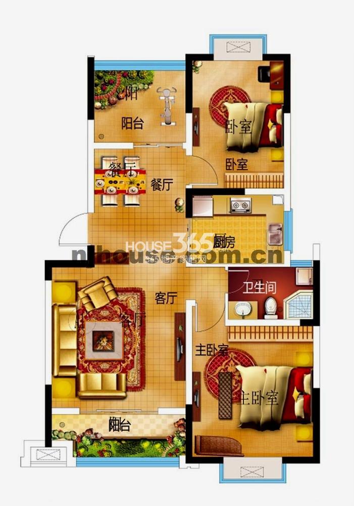 龙海骏景A4户型图
