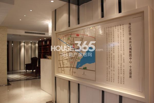 红鼎湾花园售楼处区位图