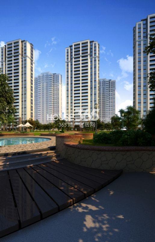 万科玲珑东区高层住宅11#南立面效果图