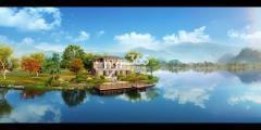 黄山太平湖金龙岛效果图