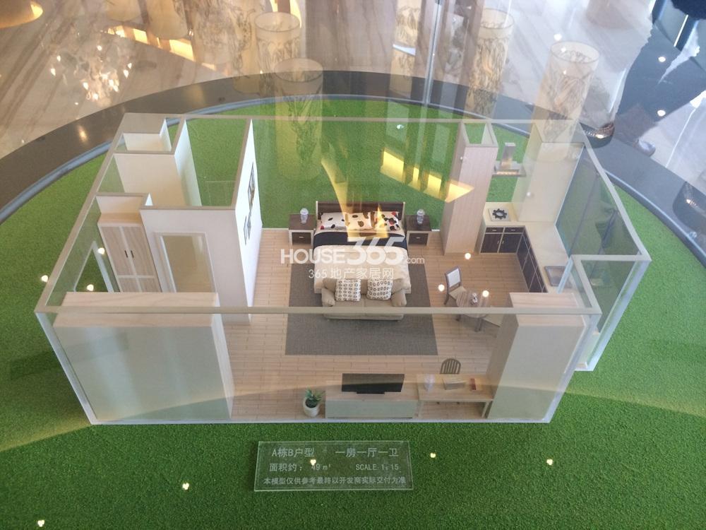 南京汇金中心A栋B户型 49平方米
