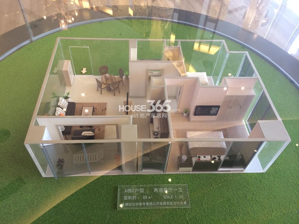 南京汇金中心A栋C户型 89平方米