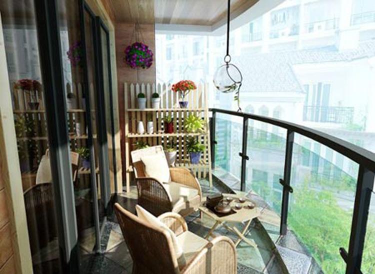 > 二楼露台装修效果图!你家有这么漂亮么?