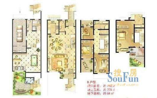 苏州二手房_东山景园 独栋别墅 园林风格 321平米320