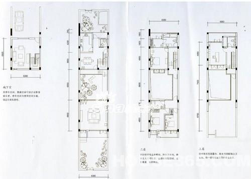 别墅联排二层设计图展示桐乡新楼盘住宅图片