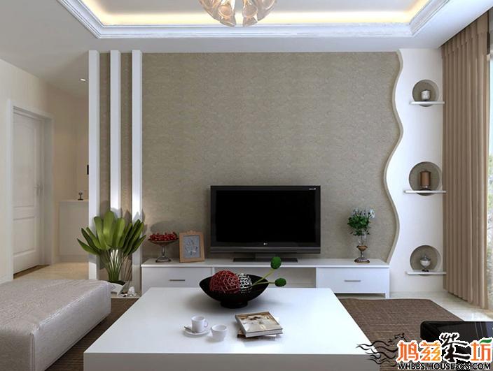 客厅液晶电视背景墙效果图十四