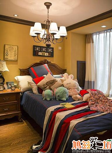 装修设计分享:儿童卧室 感觉很像英式风格 推荐床和床头柜
