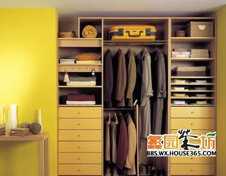 免漆板整体衣柜图片