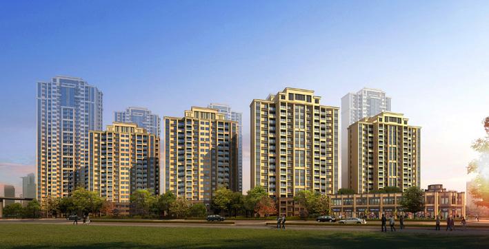 真石漆外立面,简欧式风格建筑呈现后现代简约风格!