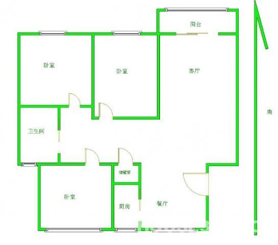 人民医院地铁站五星家园2楼全明通透精装三房朝南急售看房有钥匙
