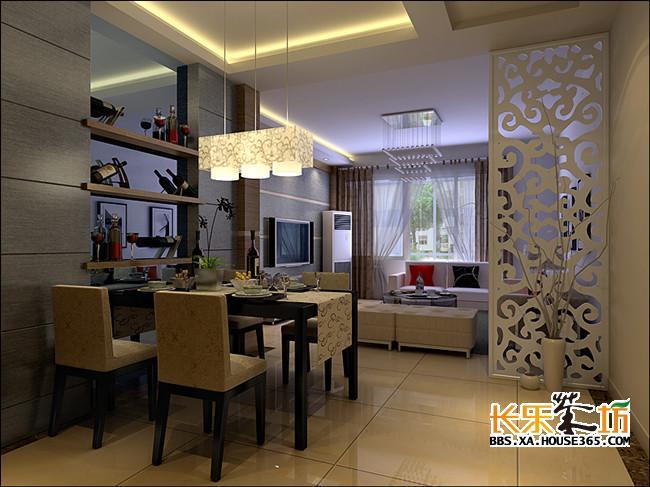卧室与客厅隔断设计 采用玻璃材质制作的隔断很符合现代人的审美观,开放式的设计在视觉上有了很大的延伸空间。即便是透明色,它也带给人更多超乎想象的视觉感受。整个设计极其简约,搭配简易的小矮柜,极有十足的现代感和个人主义风潮。 卧室隔断与其客厅明显隔离开来,空间明确的划分做到生活隐私的一种保护,将原本开放式的卧室封闭起来。让的起居室显得更家居更有安全感。